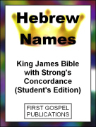 Hebrew Names King James Bible with Strongs Concordance (Students Edition)