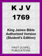 KJV 1769 King James Bible Authorized Version (Student's Edition)