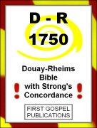 D-R 1750 Douay-Rheims Bible with Strongs Concordance