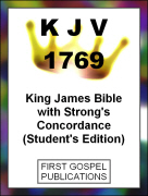 KJV 1769 King James Bible with Strongs Concordance (Students Edition)