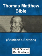 Thomas Matthew Bible (Students Edition)