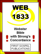 WEB 1833 Webster Bible with Strongs Concordance