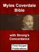 Myles Coverdale Bible with Strongs Concordance