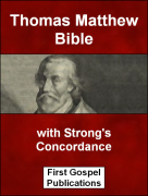 Thomas Matthew Bible with Strongs Concordance