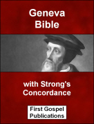 Geneva Bible with Strongs Concordance