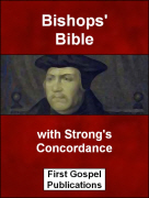 Bishops Bible with Strongs Concordance