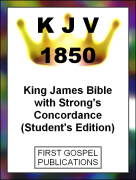 KJV 1850 King James Bible with Strong's Concordance (Student's Edition)